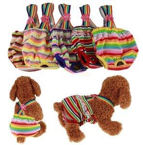Pañales de ropa para perros Pantalones fisiológicos femeninos lavables para mascotas Ropa interior cachorro pañal perros reutilizables envolturas sanitarias