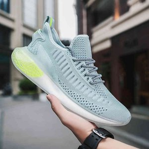 Fashion Men Shoes Summer Tide Shoes Edition Wild Men's Casual Sports Running Shoes Mesh Fly Weaving New Trend Breathable ShoesF6 Black white
