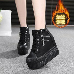 Hidden Heels Platform Sneakers Women Breathable Air Wedge Sock Shoes Woman Casual Ladies Boots Zapatos Mujer W5 Dress
