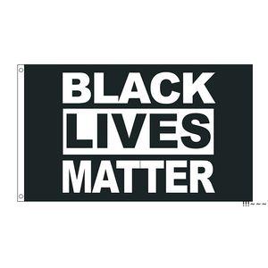 50pcs direct factory wholesale 90*150cm 3x5 fts Black Lives Matter Flag BLM Peace Protest Outdoor Banner EWE5586