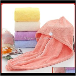 Women Towels Microfibre After Shower Hair Drying Towel Quick Dry Hat Cap Turban Head Wrap Bathing Tools Toallas Klz2W Qeam7