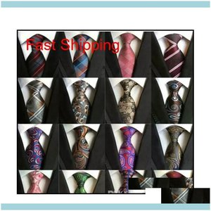 Decories216 أنماط 8 سنتيمتر الرجال الحرير أزياء رجالي الرقبة اليدوية الزفاف العلاقات الأعمال إنجلترا بيزلي التعادل المشارب منقوشة النقاط الرقبة إسقاط deliv