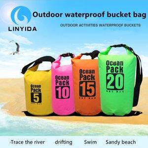 Outdoor Water Bag Sports Rafting Waterproof Bucket PVC Clip Mesh Swimming Factory Direct Sales