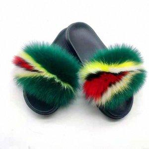 Новые женские реальные меховые тапочки дома пушистые туфли пушистые плюшевые сандалии мягкие и удобные EVA сексуальные шлепки размером 36 45 девушки обувь ботинки ботинки из S998 #