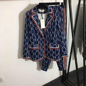 2021SS Женские наборы дизайнерский костюм две части брюк брюки брюки Пальто писем печатает пальто быстро сушки спортивная одежда наборы куртки полосатые пробуястые брюки костюм альбом DHL