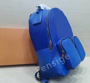 Mens MULTIPOCKET Backpack Classic Leather Fashion Backpacks Blue Sky Cloud Bag Double Shoulder Laptop Bags Student Bookbag M45441