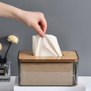 Tissue Boxes & Napkins Multi-function Holder Wooden Box Household Car Desktop Living Room Furniture Storage
