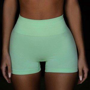 Vital Sin fisuras Cintura Alta Yoga Shorts Shorts Entrenamiento Shorts Sólido Color Fitness Scrunch Butt Yoga Shorts Entrenamiento Riding WMTCMI XHLOVE