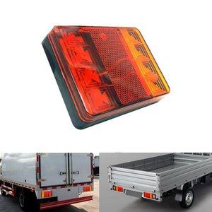 12V LED Trailer Lights 8led Truck Taillight Turn Signal Tail Rear Brake Position Lamps Warning Fog Beacon Caravan Accessories
