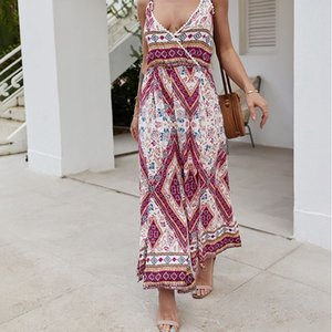 Bohemian Design Vacation Jumpsuits Lady's Slongs for wholesale