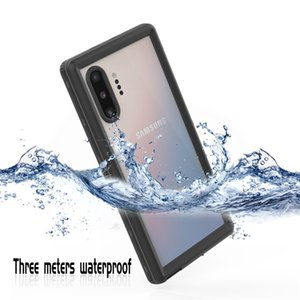 IP68 Waterproof Transparent Cover for Samsung Note10 Pro Outdoor Sports Dropproof Full Protective Snowproof Hybrid Rugged Armor Phone Case with Bracelet Rope