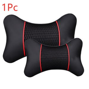 Seat Cushions 1Pc Leather Car Neck Pillow Head Protector Safety Auto Headrest Support Backrest Cushion Pillows Rest
