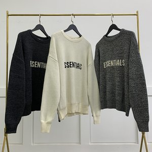 Designer men and women Fear of god Sweater Essential High street double-thread knitted chest letter hoodie autumn winter FOG loose Knit sweaters coat