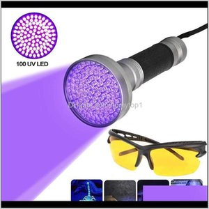 Flashlights Torches And Camping Hiking Sports & Outdoors Drop Delivery 2021 100 Led Uv Ultra Violet Blacklight Light Inspection Lamp Electric