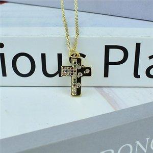 Chains Christianity Jesus Cross Necklace Women Men's Copper Religious Pendant Jewelry Prayer Baptism Gift
