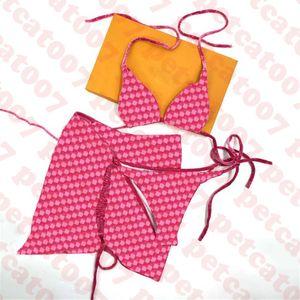 الفاخرة النساء ملابس السباحة بيكيني ثلاثة قطعة النسيج جاكار إلكتروني المرأة ملابس السباحة الشاطئ السباحة السيدات مثير البيكينيات