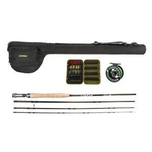 Lixada Fishing Starter Package Set Portable Rod Reel Combo 4-Piece Pole With Bonus Case