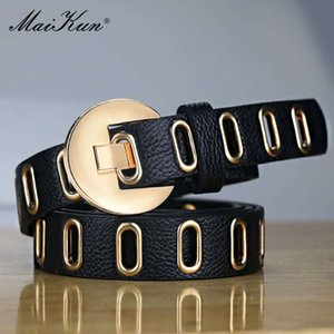 Maikun New Adjustable Street Grunge Punk Belts Women's Pin Leather Belt For BroekYPP1