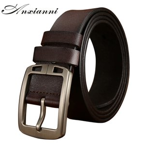 New Casual Retro Leather Belt Washed luxury men's Cowhide Leather Belt Genuine Leather Men Belts Black brown Color for Jeans J1223