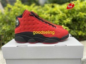 Zapatos Lanzamiento Auténtico 13 Invierte BRED MEN 13S FIBRA DE CARBONAL REAL UNIVERSIDAD RED ZAPATOS Calzado original