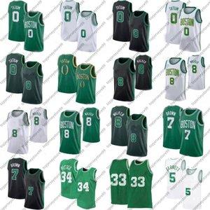 2021 Men Cheap Kemba 8 Walker Jayson 0 Tatum Jaylen 7 Brown Rondo Kevin 5 Garnett Paul 34 Pierce 20 Allen Basketball Jersey Professional