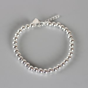 Smooth 6mm Beaded Bracelet Strands Personalized Fashion Joker Clothing Accessories Electroplating Platinum Jewelry Gifts for cute girls