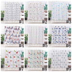 Baby Swaddle Bath Towels Muslin Newborn Blanket Wrap Cotton Bath Towels Air Condition Towel Cartoon Printed Swaddling Stroller Cover OWE7545