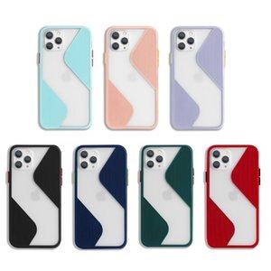 Couleurs de bonbons Couleurs de téléphone maternelle pour iPhone 11 12 Pro Max x XSmax XR 6S 7 8 Plus Couvercle de protection SE2 Coque ultra-mince Coque