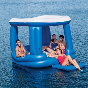 Floating house lounge chair, floating row bed, leisure row swimming pool equipment, beach island
