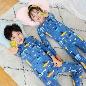 Children's Pajamas Suit Thin Boys' Girls' Warm Underwear Pants Baby's Autumn and Winter