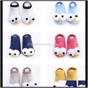 Clothing Baby, Kids & Maternity Drop Delivery 2021 Cute Baby Girls Boys Tights Socks Cartoon Warm Big Eyes Cotton Toddler Non-Slip Coral Flee