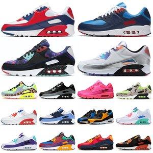 USA 90 الاحذية الرجال النساء chaussures 90s كامو في جميع أنحاء العالم سوبر نوفا ثلاثي أبيض أسود رجالي المدربين في الهواء الطلق أحذية رياضية