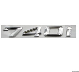 Chrome Shiny Silver ABS Number Letters Words Car Trunk Badge Emblem Letter Decal Sticker for BMW 7 Series 740i