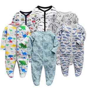 3pcs set Baby Boy Rompers Footies born Clothes Long Sleeve One Pieces Infant Girls Sleepsuit Baby Cotton Romper 0-12m 2021