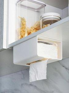 Toilet Paper Holders Tissue Storage Box Wall-mounted Napkin Rack Case Cupboard Kitchen Desk Bottom Container Bathroom