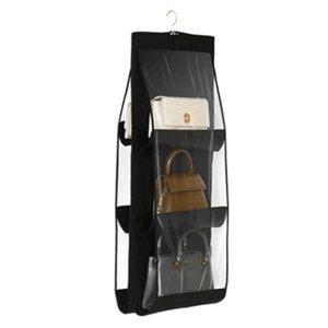 6 Pocket Folding Howing Большая прозрачная сумка сумки для хранения держатель для хранения анти-пыль-организатор стойки крючок вешалка 401 Y2