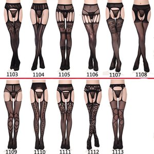 underwear lace transparent suspender black Sexy no off waist fishing net stockings non slip Garter4FP4