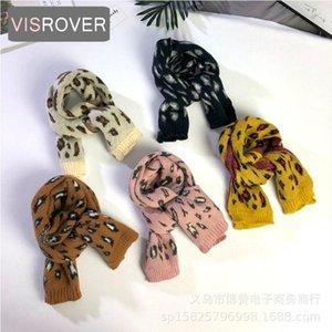 Scarves & Wraps VISROVER 9 Colorways Unisex Kid Lepardskin Knitted Scarf Baby Boys And Girls Ring Children Loop Wholesales