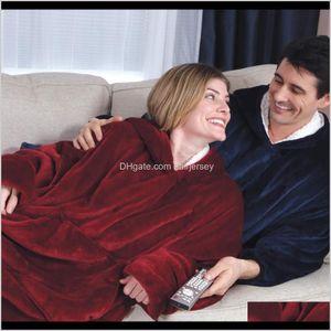 Blankets Hoodie Outdoor Winter Coats Warm Slant Hooded Robe Bathrobe Sweatshirt Fleece Pullover Blanket For Men Women Vd0Rz Opvnl