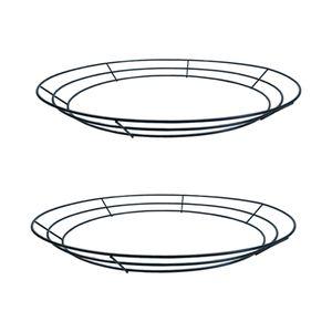 2xmetal венок кадр проволоки венок, создающий кольцо DIY Macrame Цветочные ремесел проводной формы Y0314