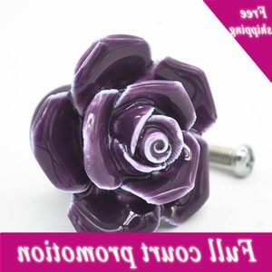 Home Decor Furniture Hardware Closet Door Fashion Bedroom Simple Gat Ceramics Rose Shape Load Box Handle