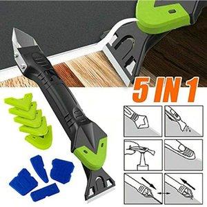 10 pçs / set 5 em 1 removedor de silicone Caulk Finisher Ferramenta de ferramenta de mão selante Sinal de raspagem do raspador Kit ferramentas com acessórios plásticos de fita de costura