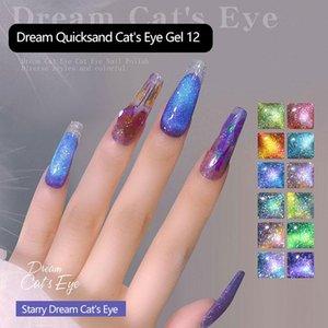 Nail Polish Cat Eyes Magnetic Gel UV Lacquer Varnish Glue Flash Spar Cat's Eye Special Shop TSLM1