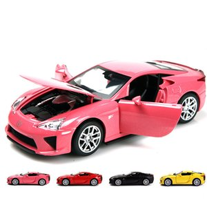 Classic 132 Lexus alloy modelsimulation die-cast metal sound and light pull back toy car model