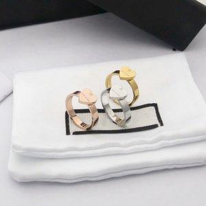 Europe America Style Ring Men Lady Women Titanium steel Engraved G Letter Heart Lovers Rings Size6-9