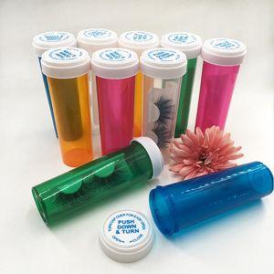 Wholesale Empty Custom Pill Bottle Eyelash Packaging Box Medicine Bottle Case for 3D Full