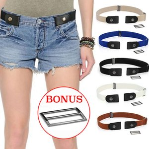 Without Easy Elastic Tail Belts For Women Fashion SP Free Stretch Sprayed Belt Men Jeans Riem Kids Boys Girls Cinturon Para3KIE