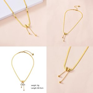 Unique Boho Butterfly Choker Necklace Women Stainless Steel Snake Chain Vintage Punk Charm Animal Pendant Jewelry Flat Necklaces 357 G2