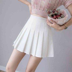 Zoki Sexy Women Pleated Summer High Waist Chic A Line Ladies Mini Korean Zipper Preppy Style Girls Dance Skirt