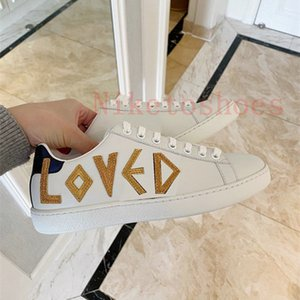 Sneaker Ace avec cuir Luxurys Chaussure Red Vert Stripe Italie Modèle brodé Imprimer Web Elastic Web Interlocking Chaussures Casual Sole Sole Sole Designer Sneakers
